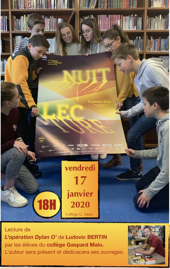 Affiche Nuit Lecture 2020